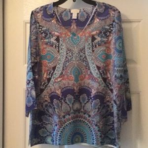 Chico's size 1 long sleeve summer top